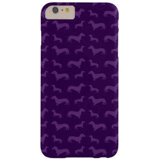 Cute purple dachshund pattern barely there iPhone 6 plus case