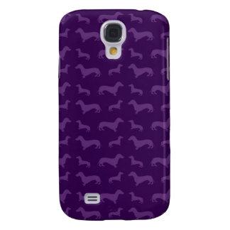 Cute purple dachshund pattern galaxy s4 case