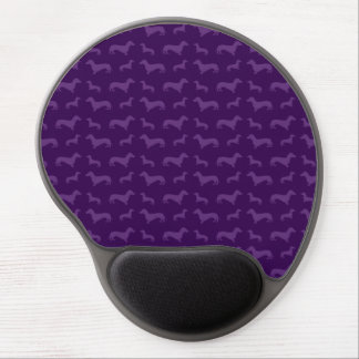 Cute purple dachshund pattern gel mouse pad