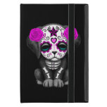 Cute Purple Day of the Dead Puppy Dog Black Cases For iPad Mini