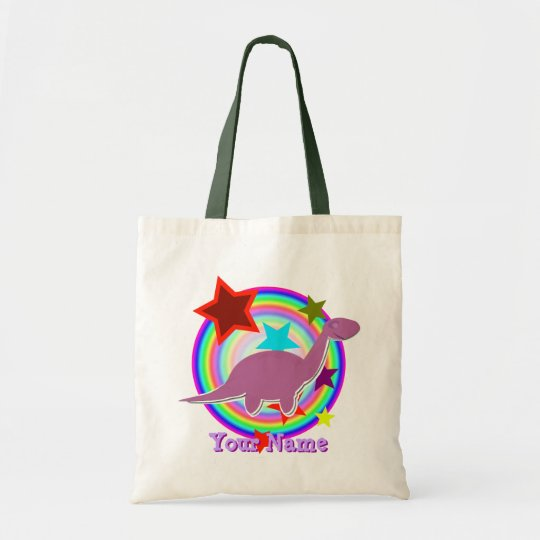 Cute Purple Dinosaur Diplodocus Gift Bag
