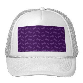 Cute purple dog bones pattern mesh hat