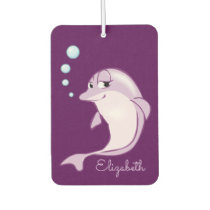 Cute Purple Dolphin Personalized Air Freshener