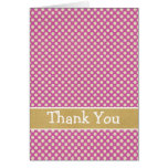 Cute Purple Dots Thank You Card
