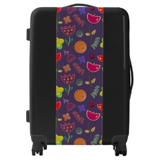 Floral Pattern Suitcase