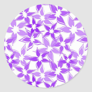 Cute Purple floral sticker