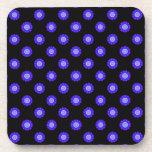Cute purple flower pattern drink coaster