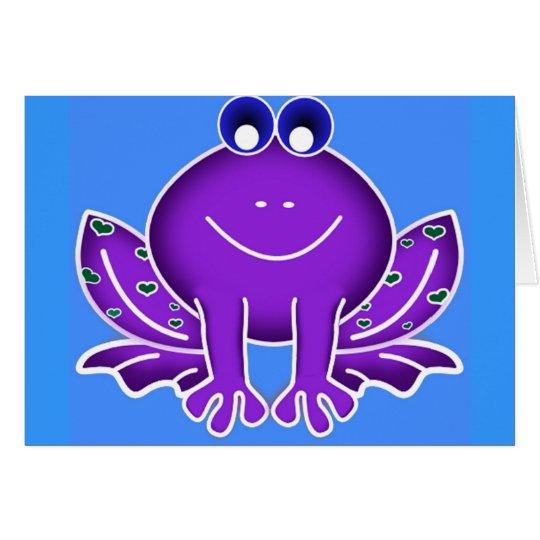 cute purple frog card