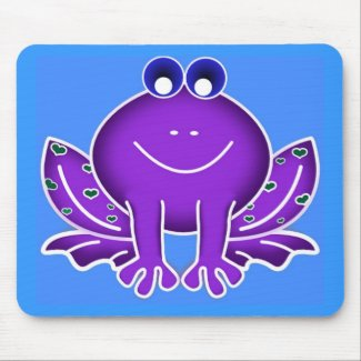 cute purple frog mouse mats