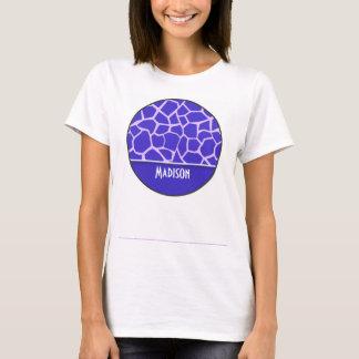Cute Purple Giraffe Pattern T-Shirt