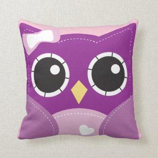 Cute Purple Girls Pillow Room Decor