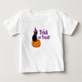 Cute Purple Glitter Trick or Treat Baby Baby T-Shirt