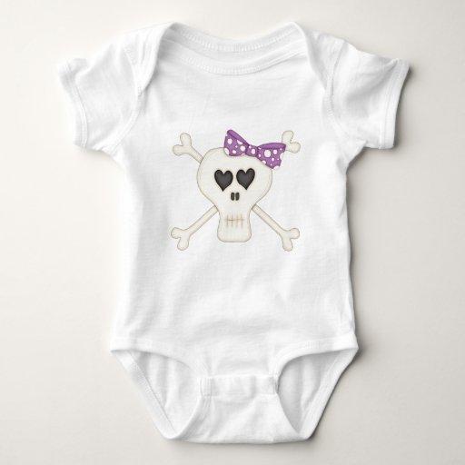 Cute Purple Goth Crossbones Baby Bodysuit
