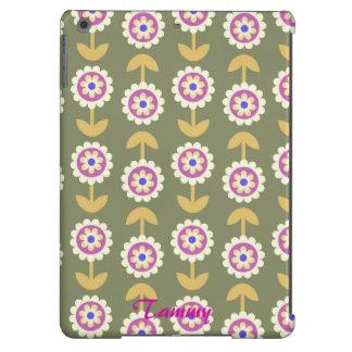 Cute Purple & Green Flower iPad Air Cover