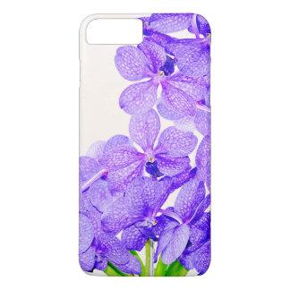 Cute purple green orchids flowers pattern iPhone 7 plus case