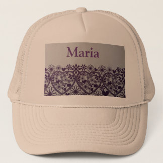 cute purple hearts and little flower  Maria hats