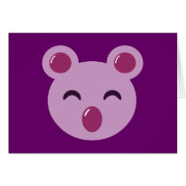 Cute Purple Koala Bear
