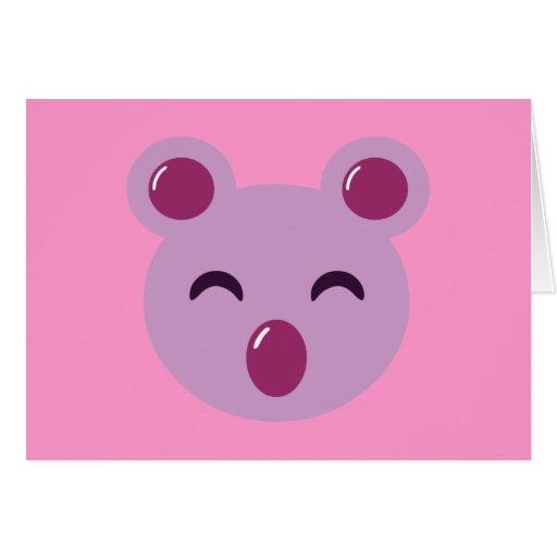 Cute Purple Koala Bear Card