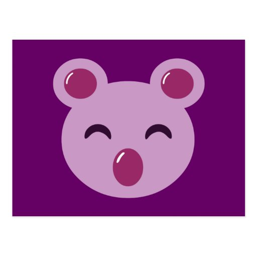 Cute Purple Koala Bear Postcard