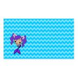 Cute Purple Mermaid Business Card Templates