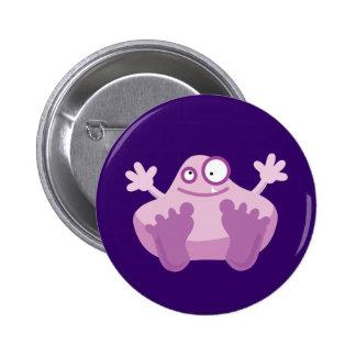 Cute Purple Monster Pinback Buttons