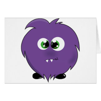 Cute Purple Monster Greeting Card