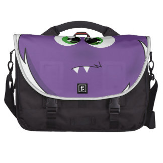 Cute Purple Monster Commuter Bags