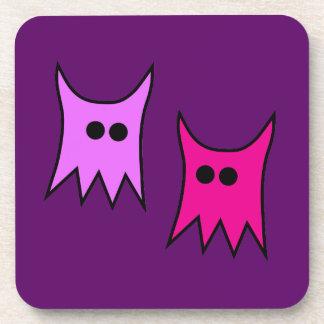 Cute Purple Monster Ghosts Cartoon Drink Coaster