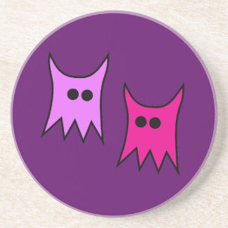 Cute Purple Monster Ghosts Cartoon Drink Coasters