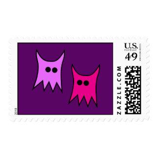 Cute Purple Monster Ghosts Cartoon Postage