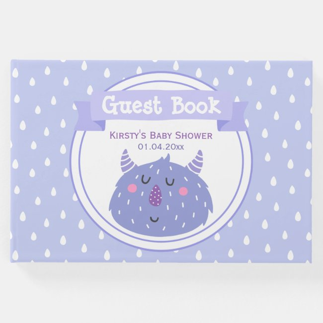 Cute Purple Monster - Lilac Baby Shower