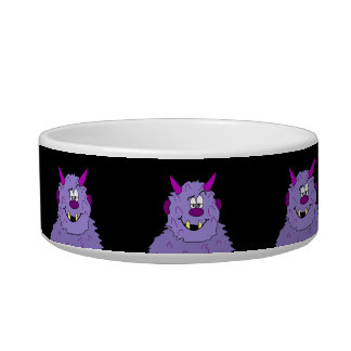 Cute Purple Monster Pet Dish for Dogs Cats