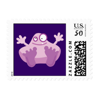 Cute Purple Monster Postage