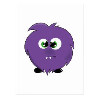 Cute Purple Monster Postcard