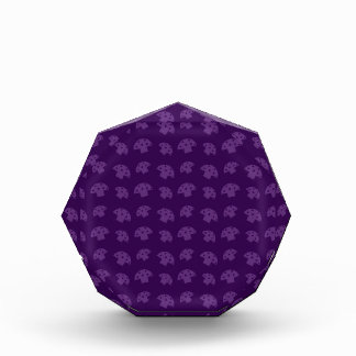 Cute purple mushroom pattern award