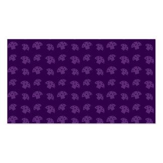 Cute purple mushroom pattern business cards