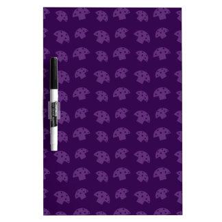 Cute purple mushroom pattern Dry-Erase whiteboards