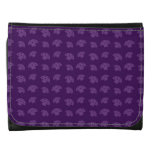 Cute purple mushroom pattern leather wallet