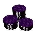 Cute purple mushroom pattern set of poker chips