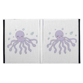 Cute Purple Octopus iPad Folio Cases
