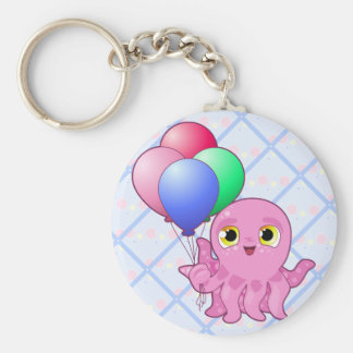 Cute Purple Octopus Keychain