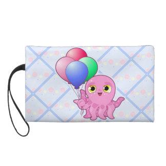 Cute Purple Octopus Wristlet