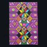 "Cute purple, orange pattern Mochila art Hand Towel<br><div class=""desc"">Cute purple,  orange pattern Mochila art towel. Fashion accessory,  beautiful creations in your life. Customize</div>"