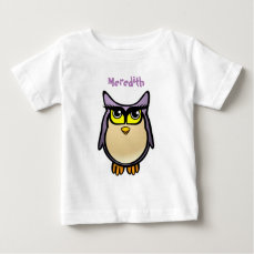 Cute Purple Owl Baby T-Shirt