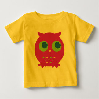 Cute Purple Owl Cartoon Baby T-Shirt