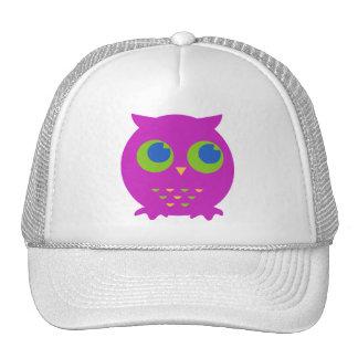 Cute Purple Owl Cartoon Mesh Hats