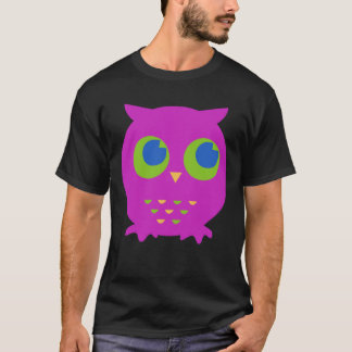 Cute Purple Owl Cartoon T-Shirt