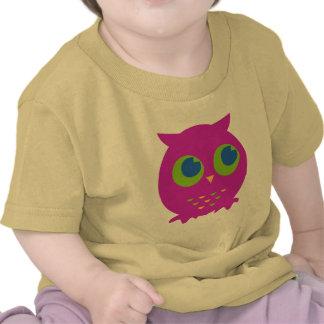 Cute Purple Owl Cartoon T-shirt