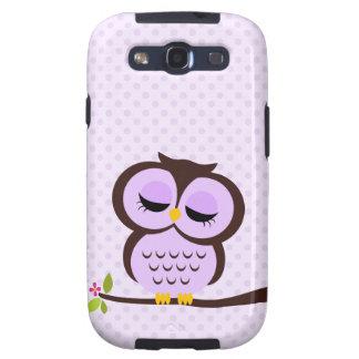 Cute Purple Owl Galaxy SIII Cases