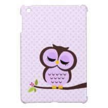 Cute Purple Owl Cover For The iPad Mini